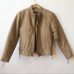 Women's Hot Leathers Tan Jacket 100% Real Leather